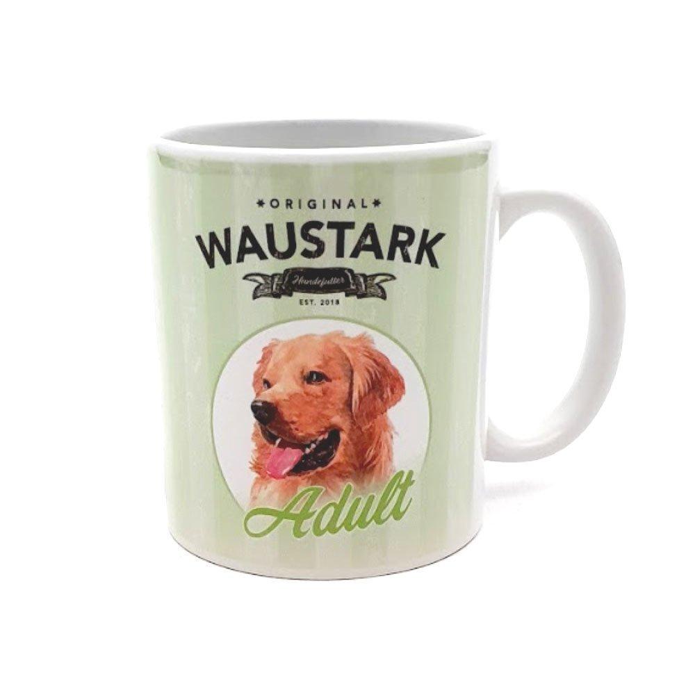 tiierisch WAUSTARK Retro Kaffeebecher, Adult, grün
