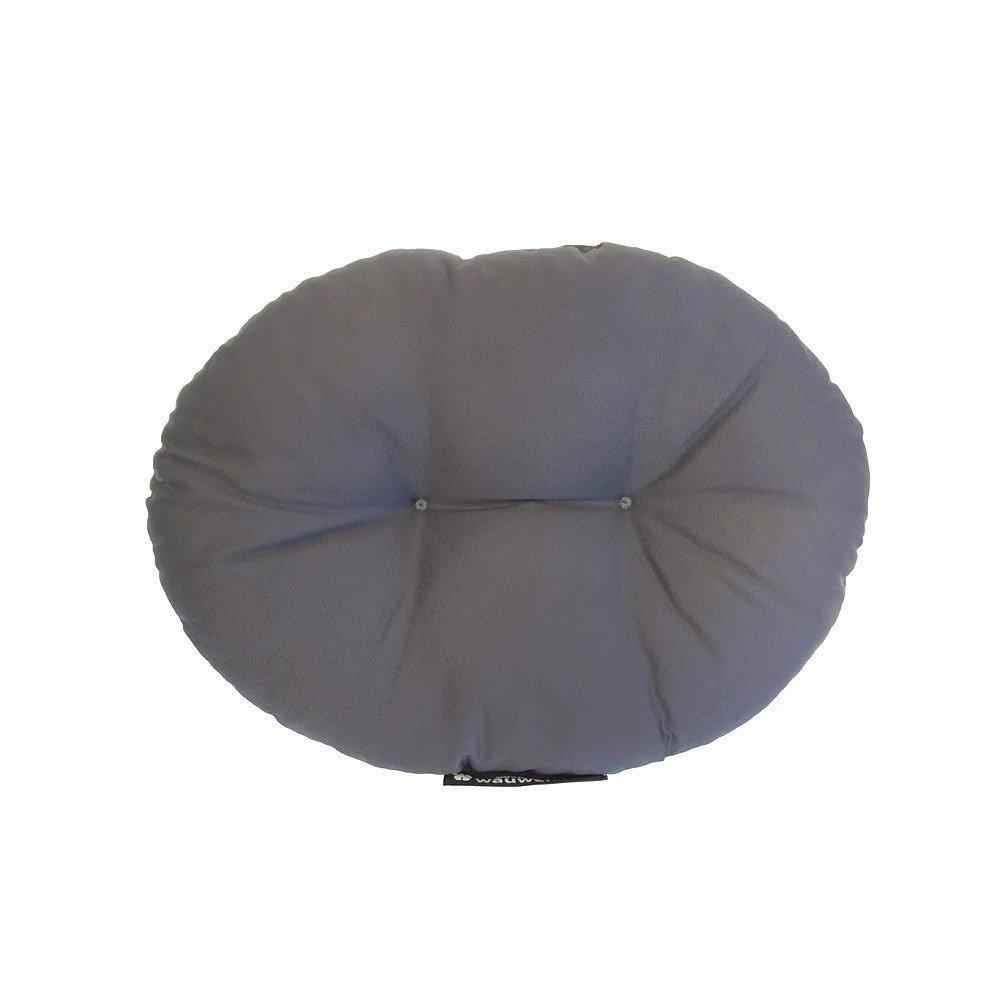 wauweich Kissen und Decke für Fahrradkorb, Kissen: 32 x 44 cm, grau