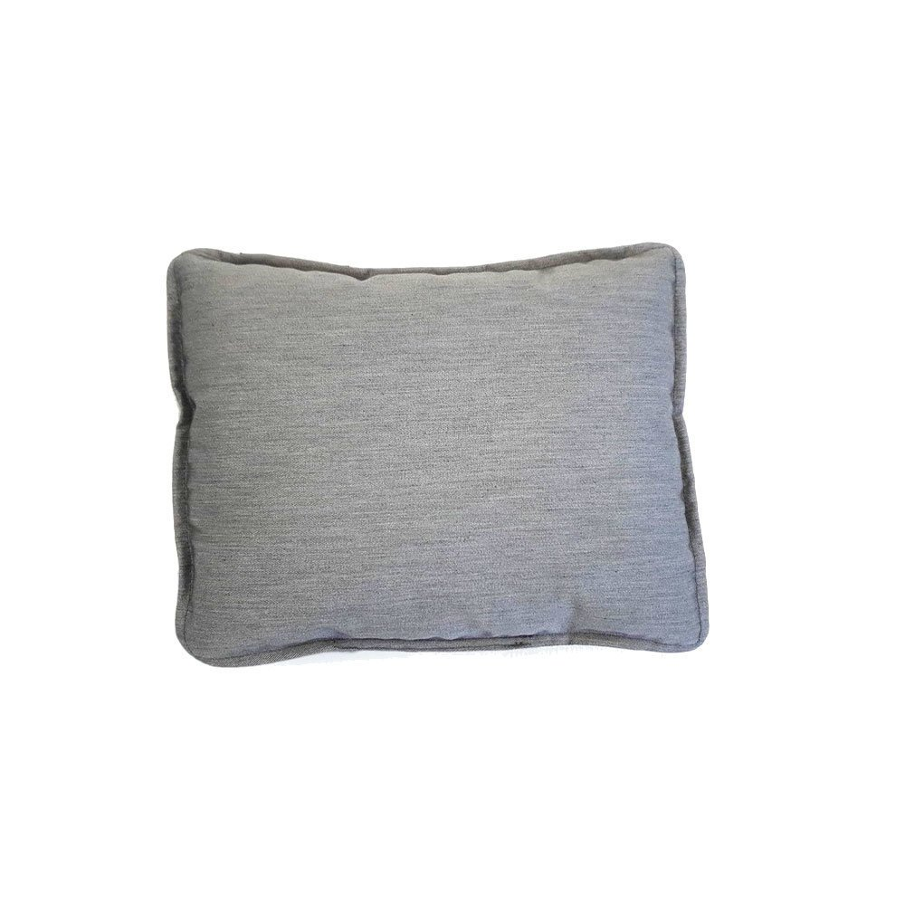 wauweich Kuschelkissen mit Fleece, Wendekissen: 20x25 cm, hellgrau/grau melange