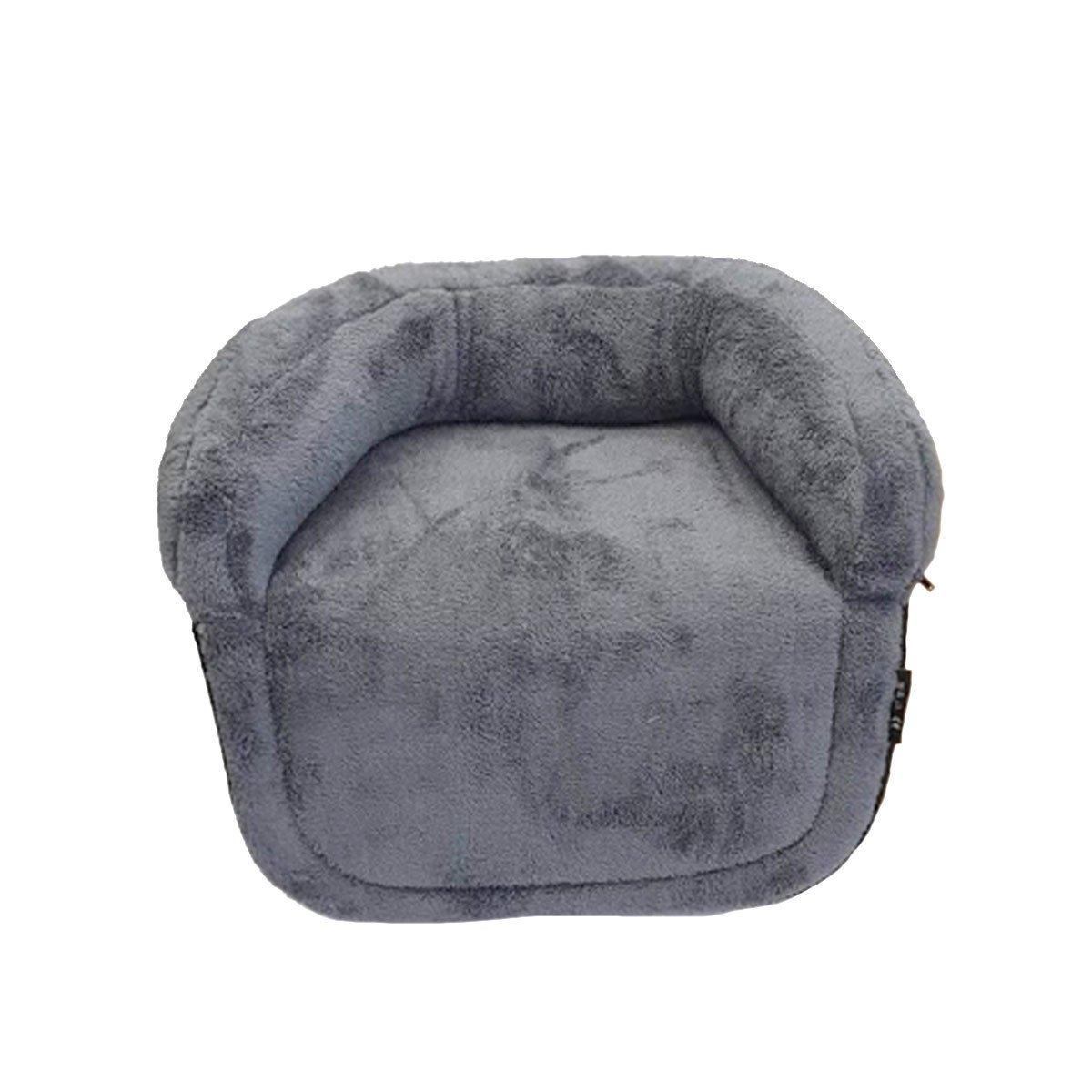 wauweich Sofadecke für Hunde aus Plüsch, S: 80 x 66 cm, grau