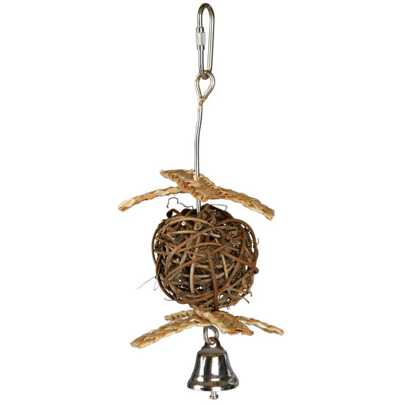 Trixie Weidenball Nistkugel für Vögel, ø 10 cm/22 cm, Großsittiche