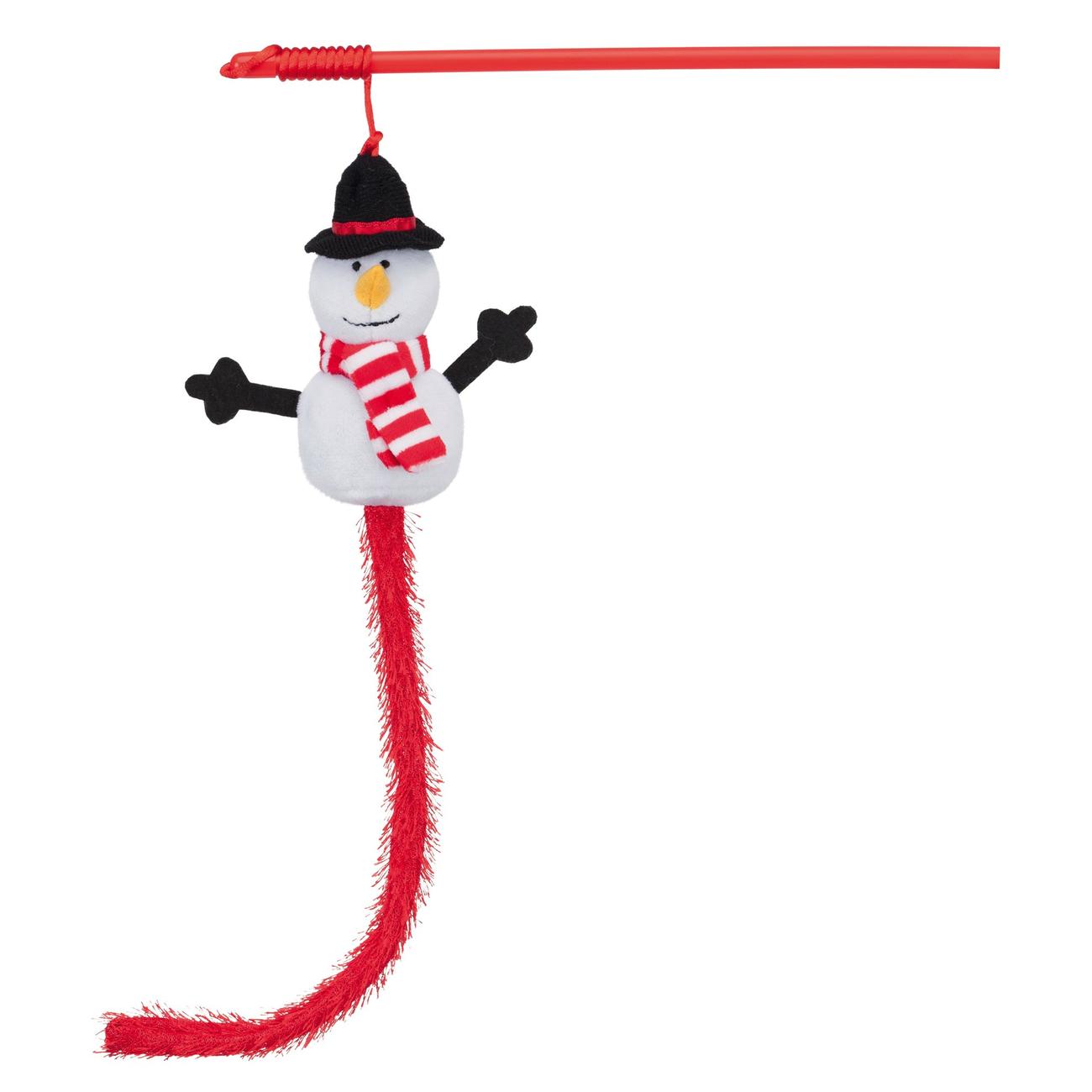 TRIXIE Weihnachts-Spielangel mit Schneemann 92503