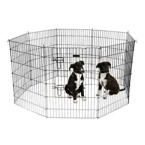 Kerbl Welpen- und Kleintiergehege mit 8 Gitter und Tür, Bild 3