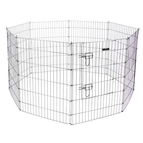 Kerbl Welpen- und Kleintiergehege mit 8 Gitter und Tür