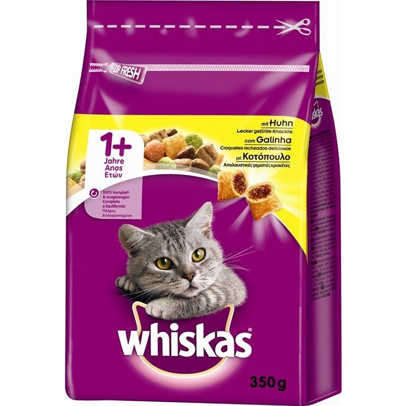 Mars Whiskas Katzenfutter Trockenfutter Adult 1+, 350 g, mit Huhn