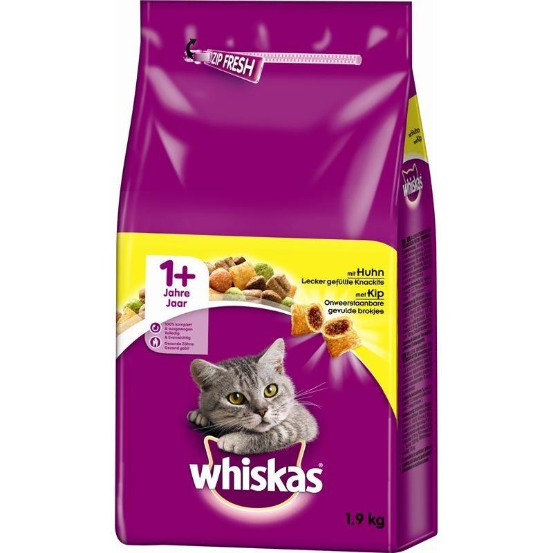 Mars Whiskas Katzenfutter Trockenfutter Adult 1+, 1,9 kg, mit Huhn