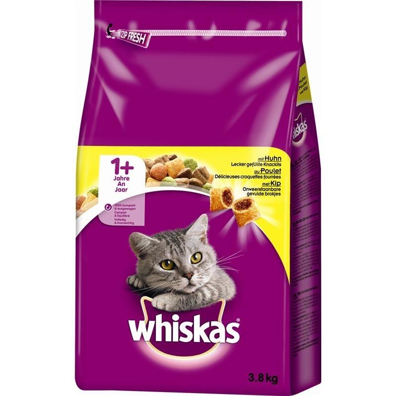 Mars Whiskas Katzenfutter Trockenfutter Adult 1+, 3,8 kg, mit Huhn