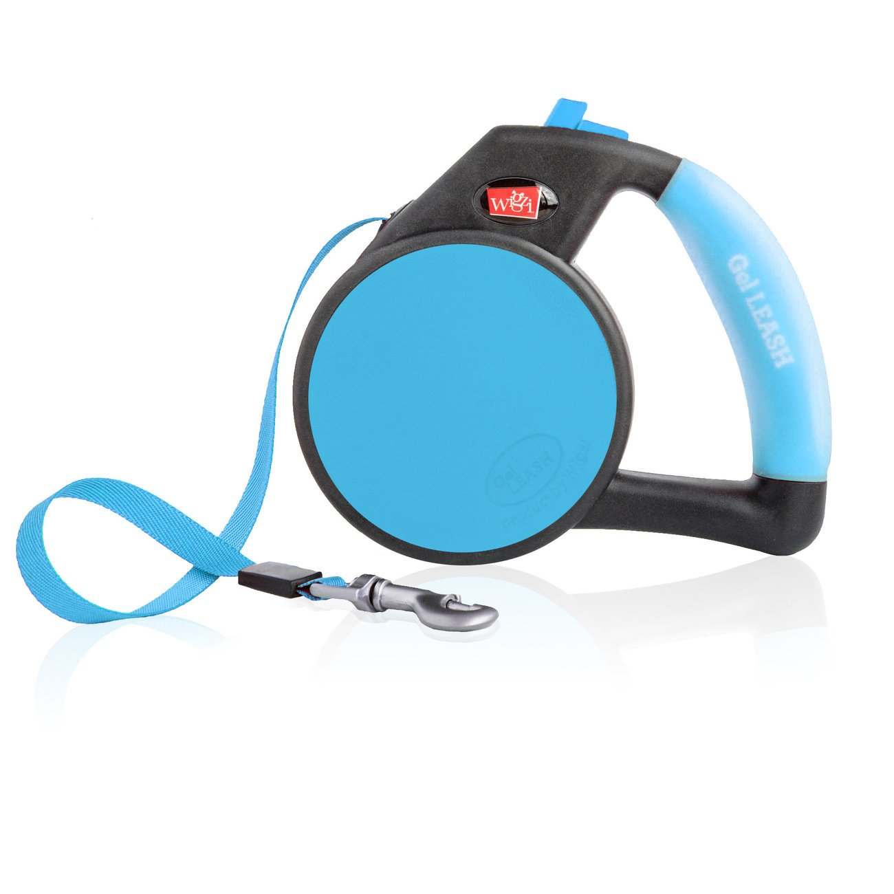Wigzi Automatik-Hundeleine mit Gel Handgriff, Gr. S - blau
