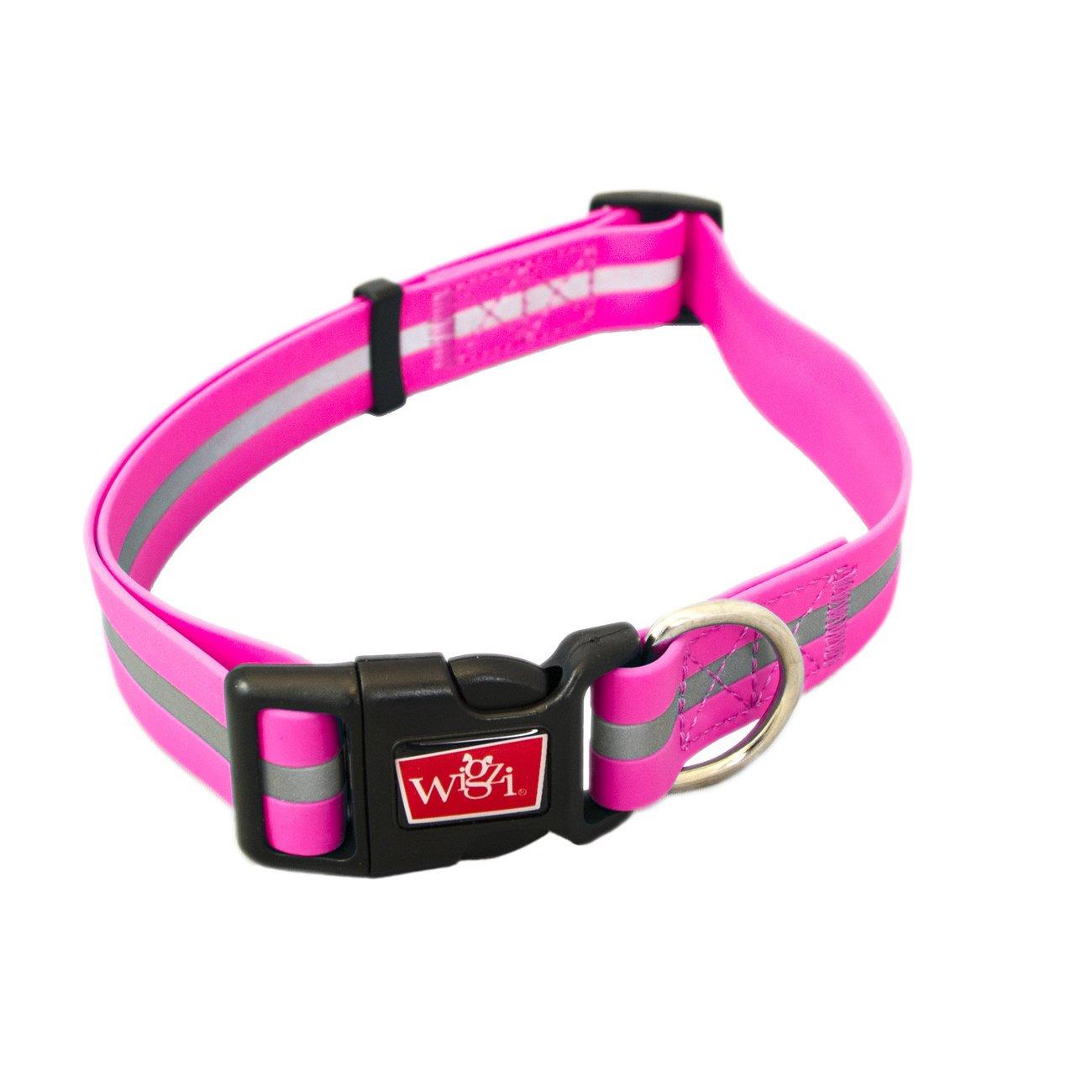 Wigzi wasserfestes Hundehalsband reflektierend, Gr. S - pink