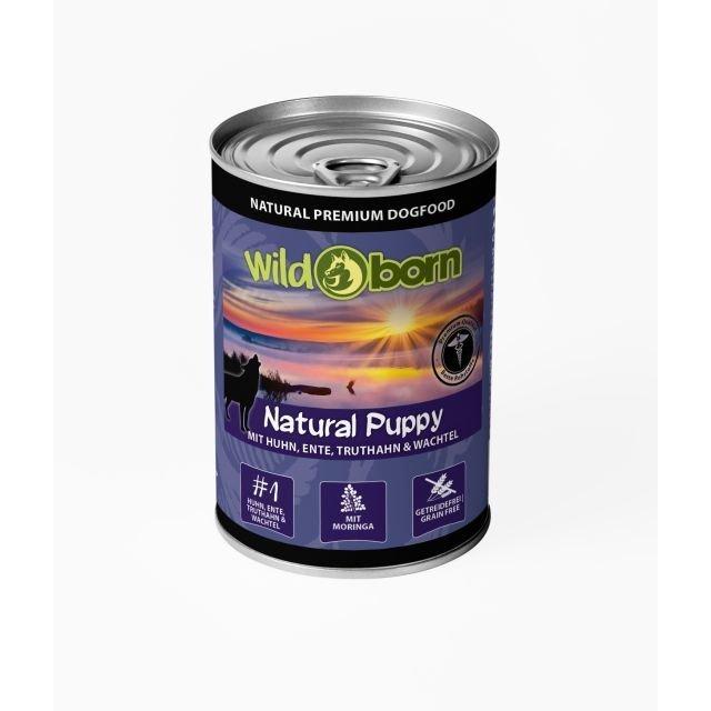 Wildborn Natural Puppy Dose Nassfutter für Welpen, 6x400g