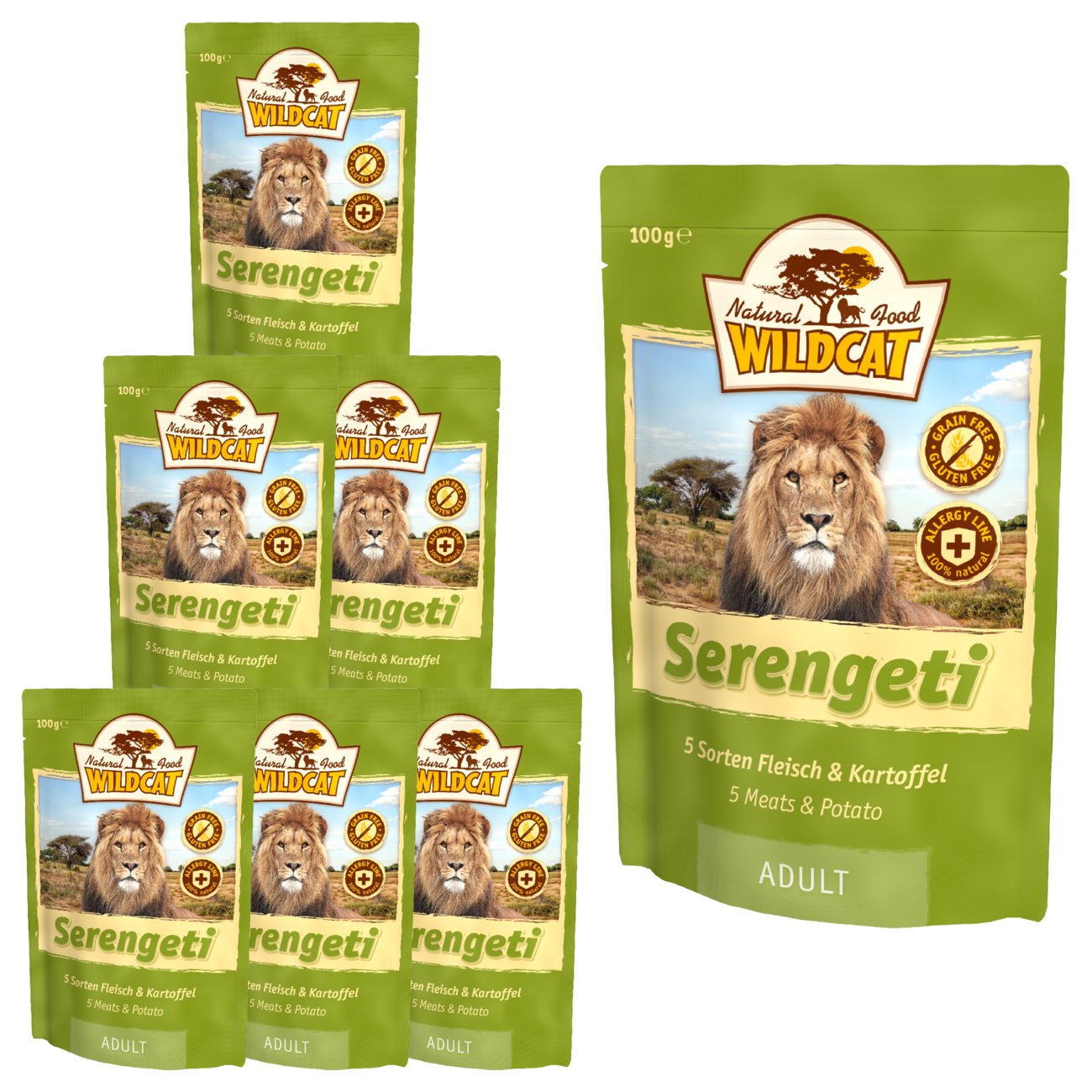 Wildcat Serengeti  Nassfutter Pouches, Bild 3