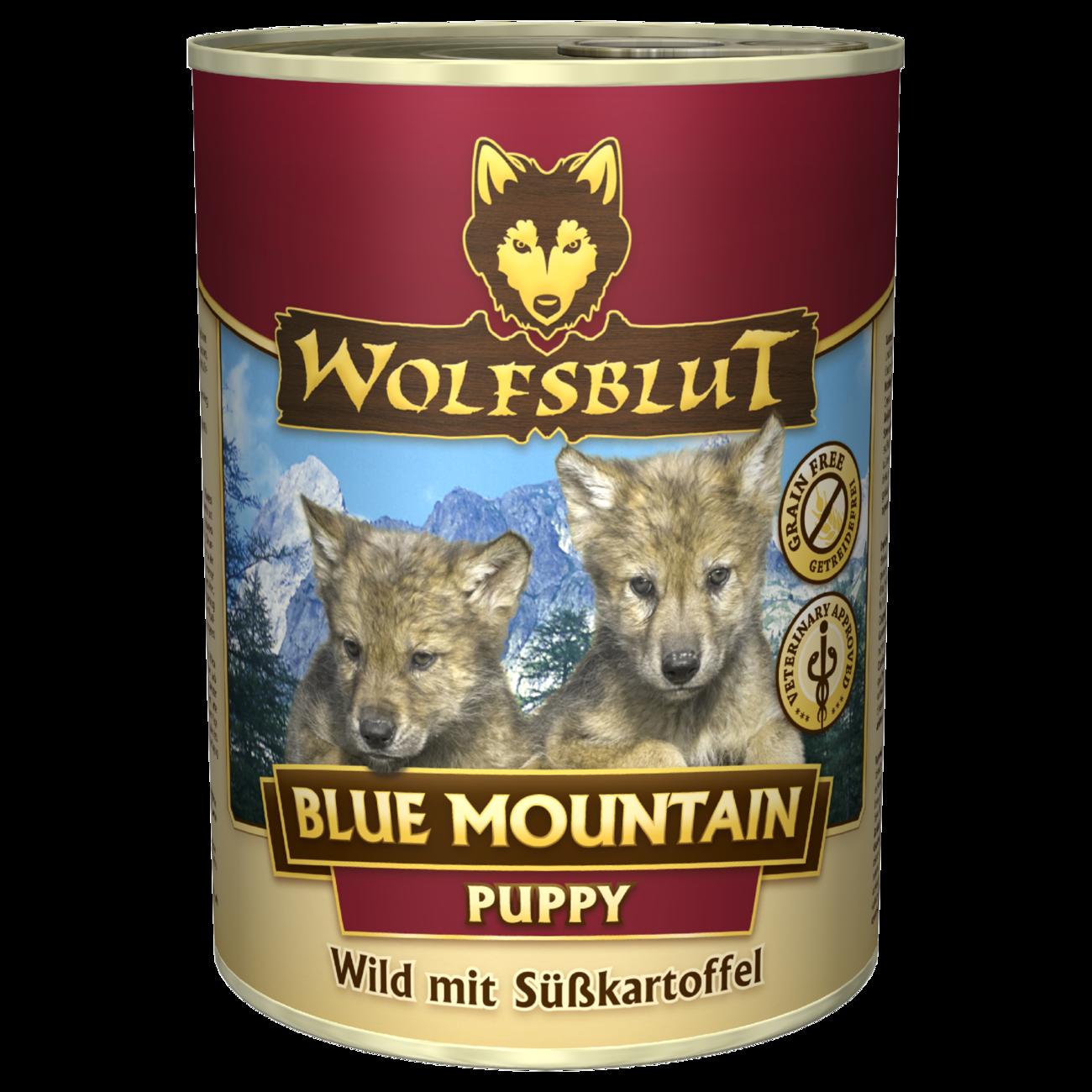 Wolfsblut Welpenfutter Dosenfutter Blue Mountain PUPPY