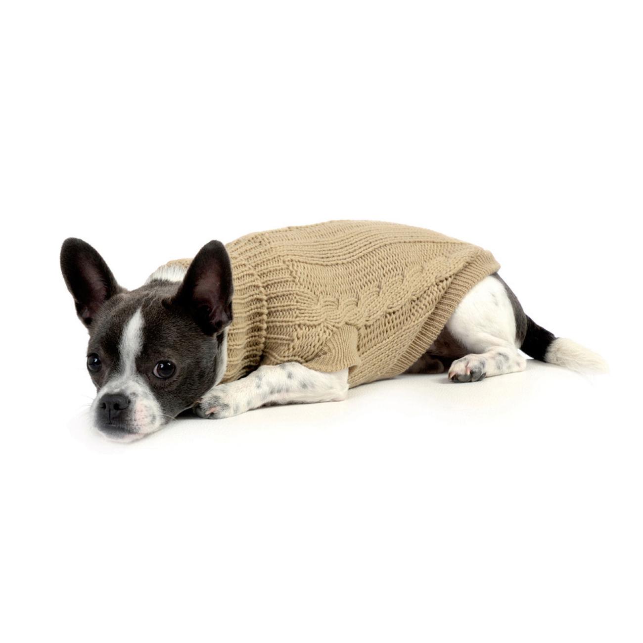 Wolters Zopf-Strickpullover für Hunde, Bild 3