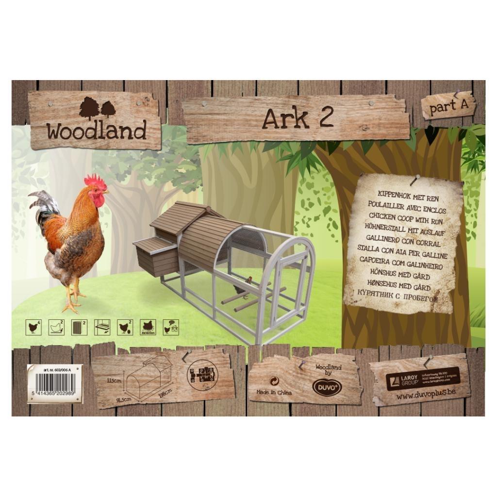 DUVO+ Woodland Hühnerstall Ark 2 mit Auslauf, Bild 2
