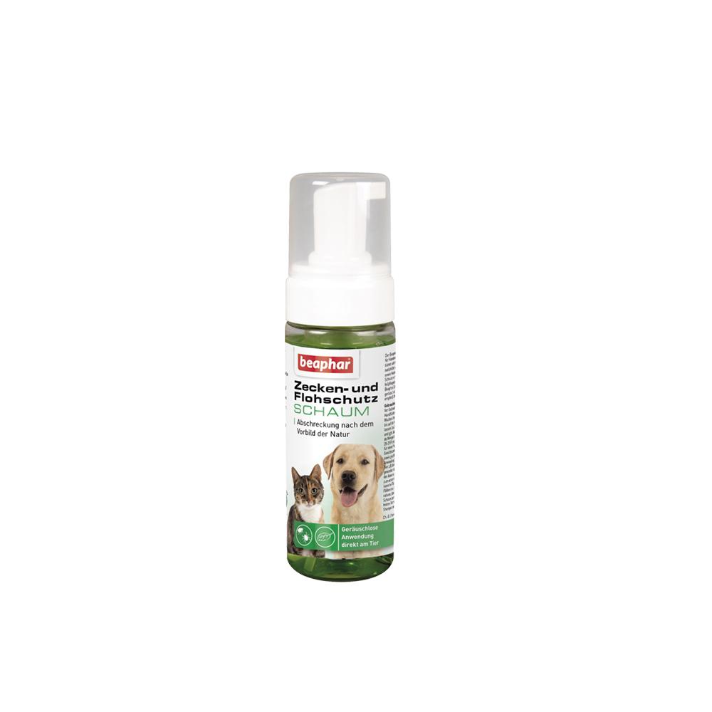 beaphar Zeckenschutz und Flohschutz Schaum für Hunde und Katzen, 150 ml, Hund / Katze