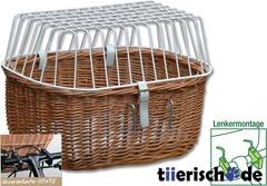 Aumüller Hunde Fahrradkorb für Lenker mit Gitter