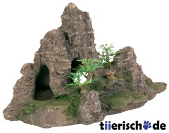 TRIXIE Felsformation mit Höhle und Pflanzen