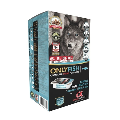 alpha spirit Only Fish Hundefutter halbfeucht