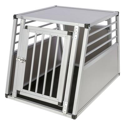 Alu-Hunde Transportbox Barry eintürig, 92x65x65,5cm