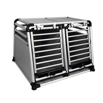 Aluminium Autotransportbox doppelt Round Corner, B x T x H: 83,5 x 96,5 x 68,6 cm