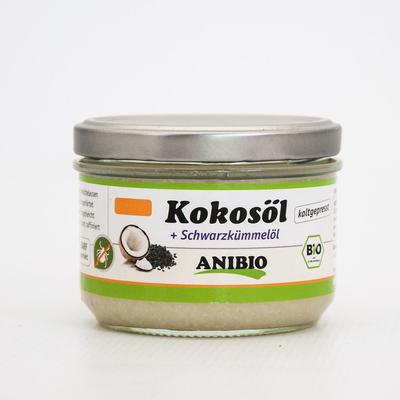 Anibio Kokosöl mit Schwarzkümmelöl