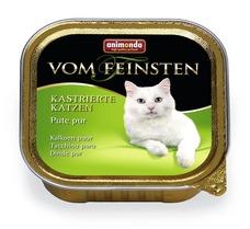 Animonda vom Feinsten für kastrierte Katzen, 32 x 100g Pute Pur