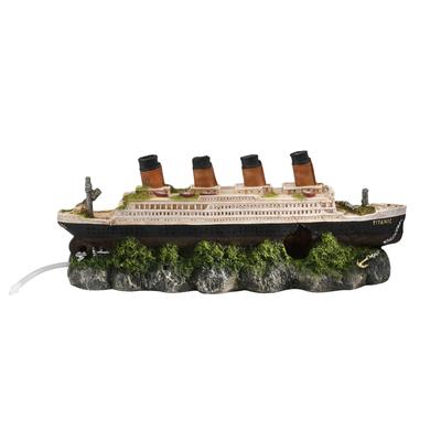 Aqua Della Titanic Schiffswrack Aquarium Deko