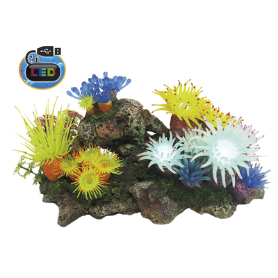 Nobby Aqua Ornaments APLYSINA mit Pflanzen, mit LED Aquarium Deko