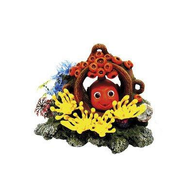 Nobby Aqua Ornaments FISCH IM KRUG mit Pflanzen