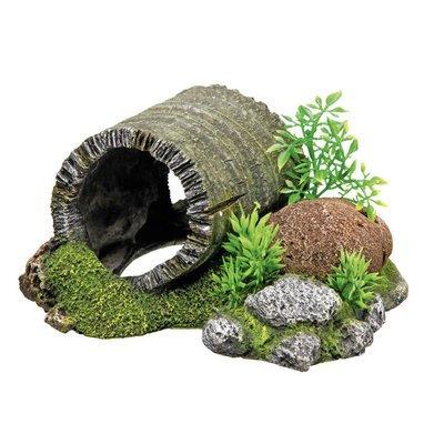 Nobby Aqua Ornaments Holztunnel mit Pflanzen