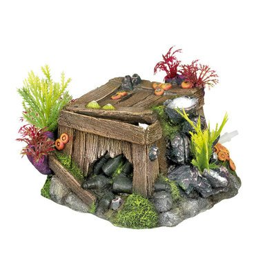 Nobby Aqua Ornaments KISTE MIT KORALLEN mit Pflanzen