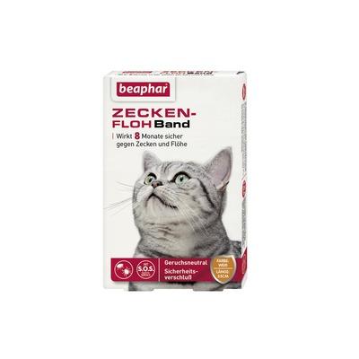 beaphar Zeckenhalsband Flohhalsband S.O.S Katze, 35 cm