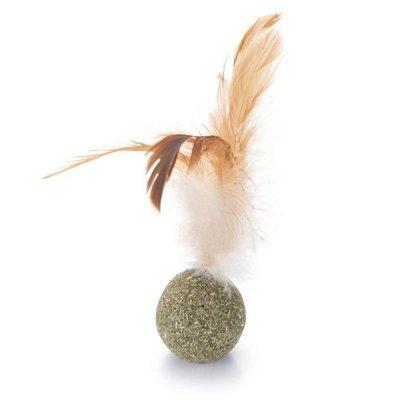 Beeztees Catnip Ball mit Federn
