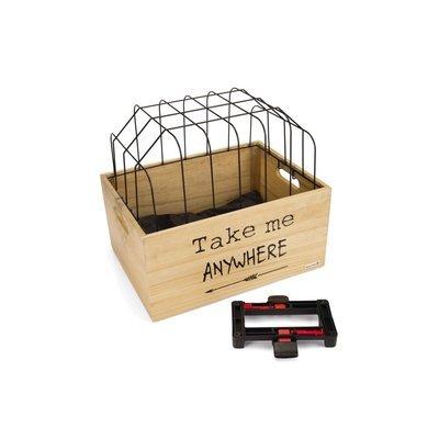 Beeztees Fahrradkorb Holzkiste mit Gitter