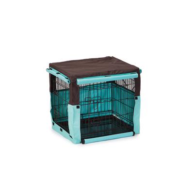 Beeztees Gitterbox Überzug Benco für Bench, 63 x 55 x 61 cm, beige blau