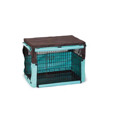 Beeztees Gitterbox Überzug Benco für Bench, 78 x 55 x 61 cm, braun mint
