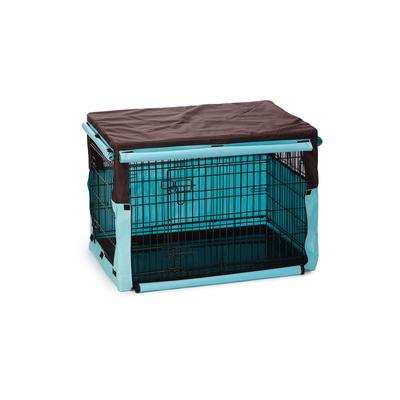 Beeztees Gitterbox Überzug Benco für Bench, 89 x 60 x 66 cm, braun mint