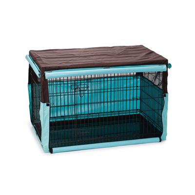Beeztees Gitterbox Überzug Benco für Bench, 109 x 69 x 75 cm, beige blau
