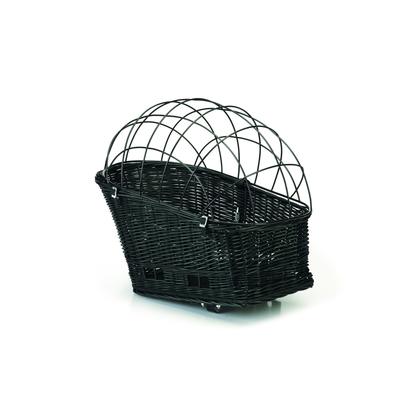 Beeztees Hunde Fahrradweidenkorb für Gepäckträger, 45 x 23 cm, schwarz