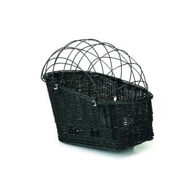 Beeztees Hunde Fahrradweidenkorb für Gepäckträger, 50 x 27 cm, schwarz
