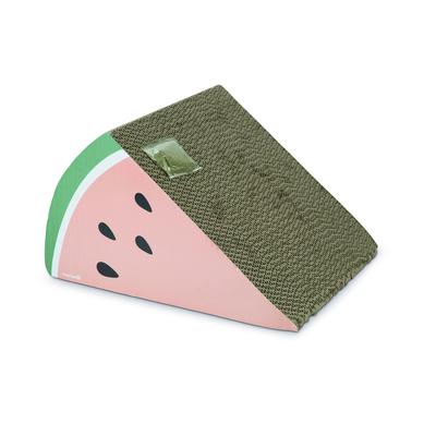 Beeztees Katzen Kratzspielzeug Karton Fruity, 40 x 33 x 23 cm, rosa anthrazit