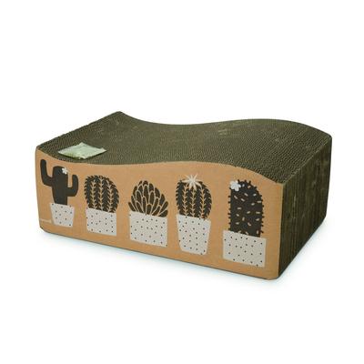 Beeztees Kratzspielzeug für Katzen Cactus, 50 x 33 x 17 cm, braun