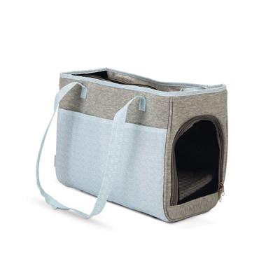 Beeztees Minda Schultertragetasche für Welpen, 40 x 22 x 28 cm, grau
