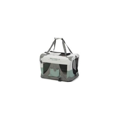 Beeztees Nylonbox für Hunde World Travel, faltbar, 49 x 34 x 35 cm, mintgrün
