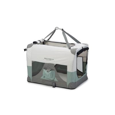 Beeztees Nylonbox für Hunde World Travel, faltbar, 91 x 63 x 63 cm, mintgrün
