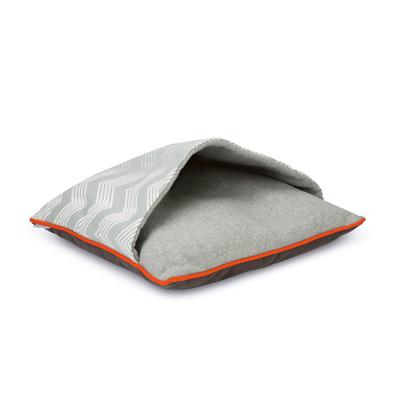 Beeztees Schlafsack für Katzen, Beluwa: 50 x 50 x 6 cm, hellgrau ZigZag