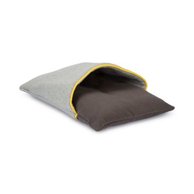 Beeztees Schlafsack für Katzen, Sliepie: 57 x 38 x 6 cm, grau / gelb