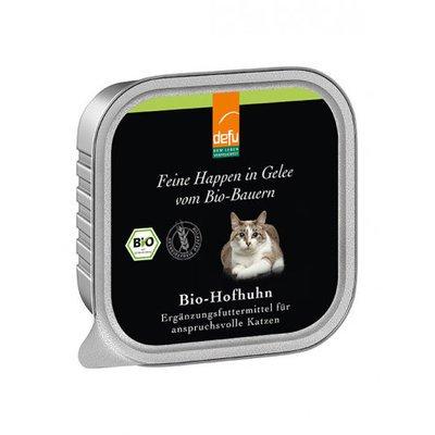 defu Katzenfutter Bio-Hofhuhn - Feine Happen in Gelee