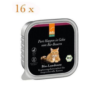 defu Katzenfutter Bio-Landente - Pure Happen in Gelee