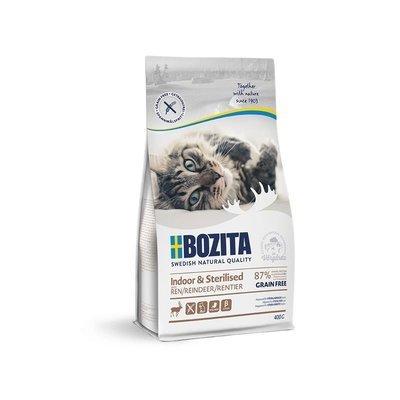 Bozita Katzenfutter Indoor & Sterilised Getreidefrei Rentier